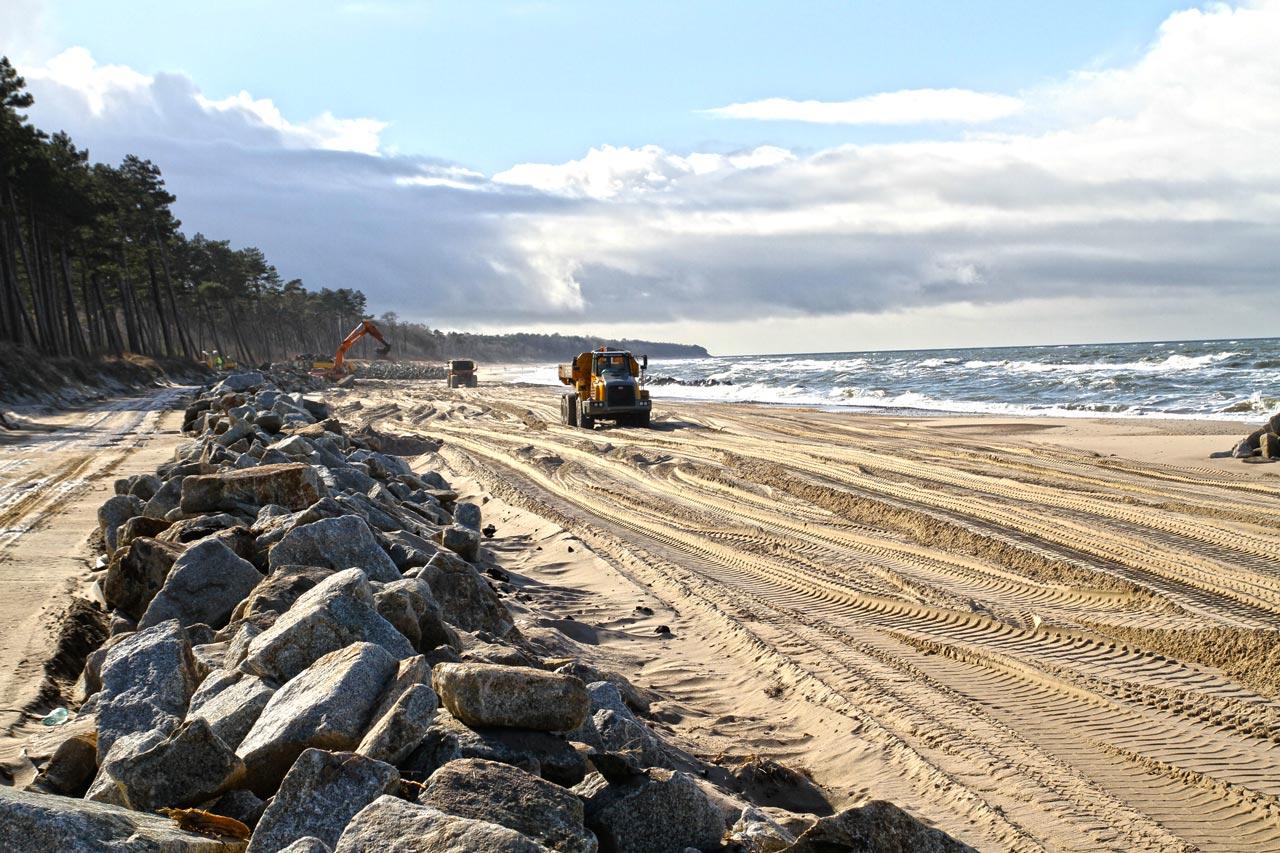 Dostawy kamienia hydrotechnicznego plaża Jaroslawiec