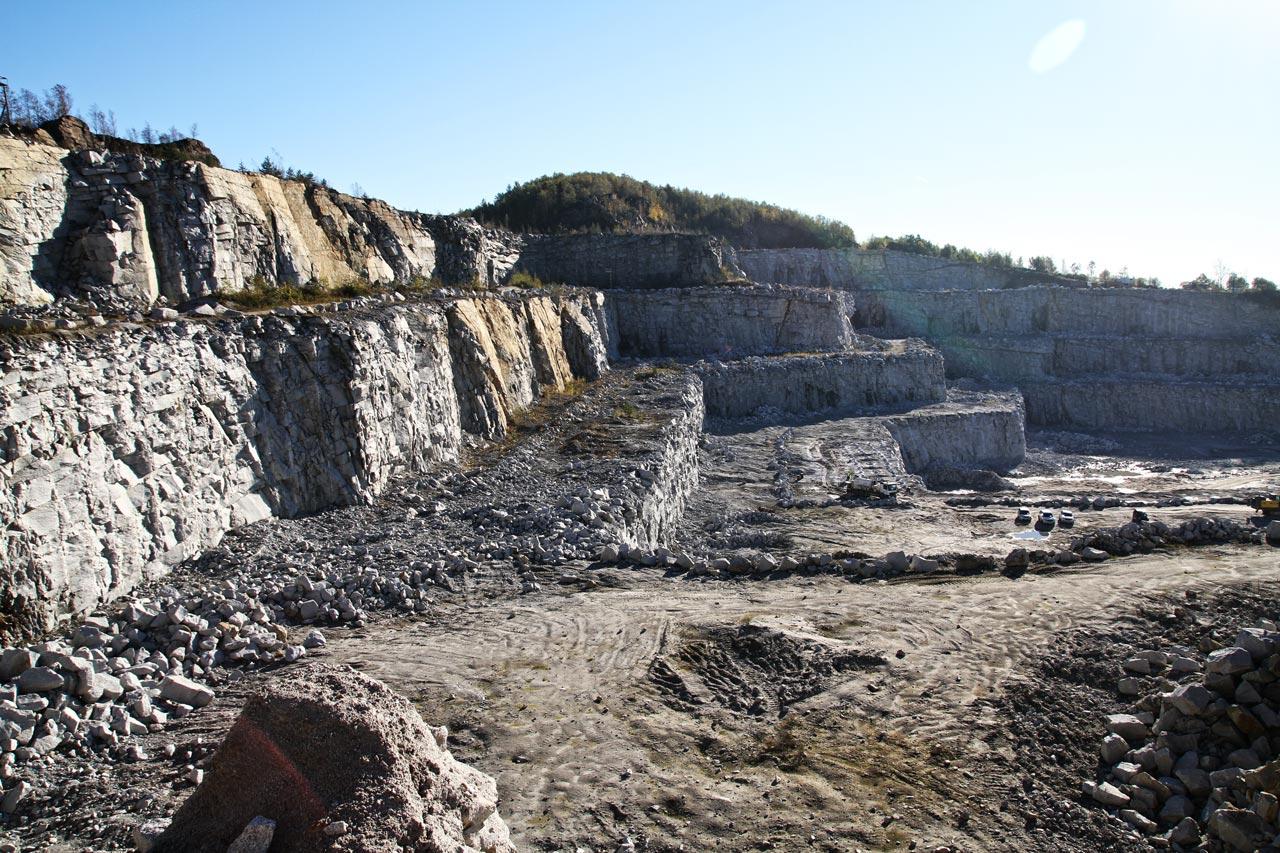 Produkcja kruszywa hydrotechnicznego - kopalnia Eurovia