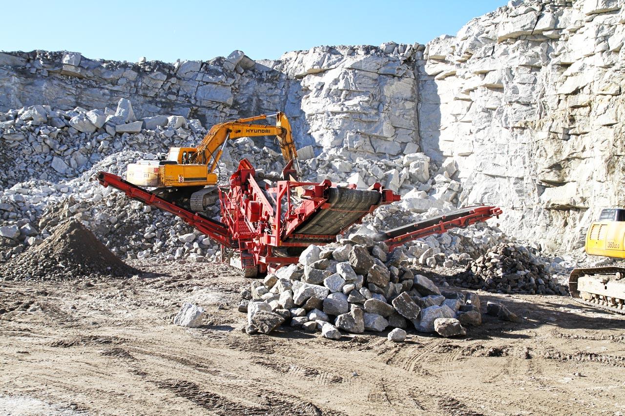 Produkcja hydrokamienia - kopalnia Eurovia