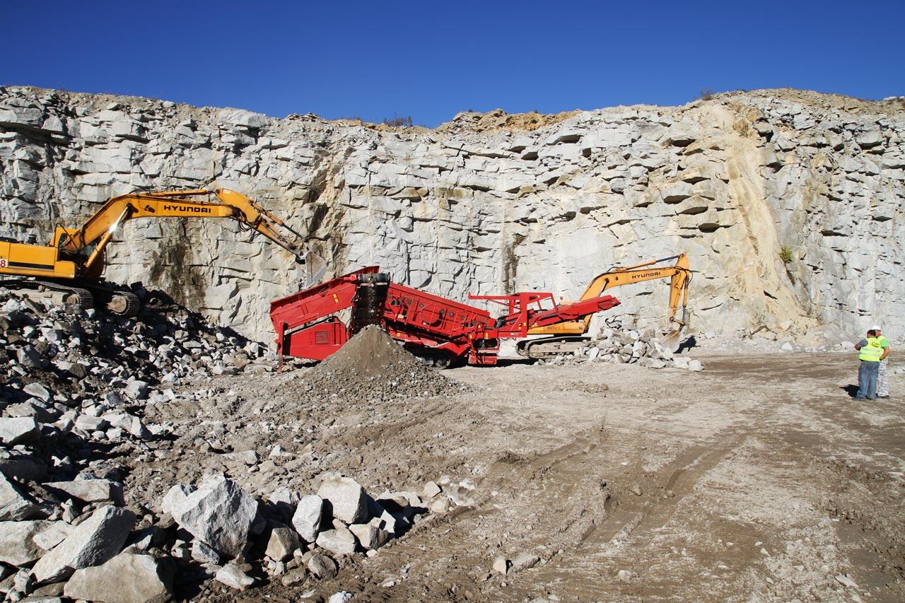 Produkcja kamienia hydrotechnicznego - kopalnia Eurovia