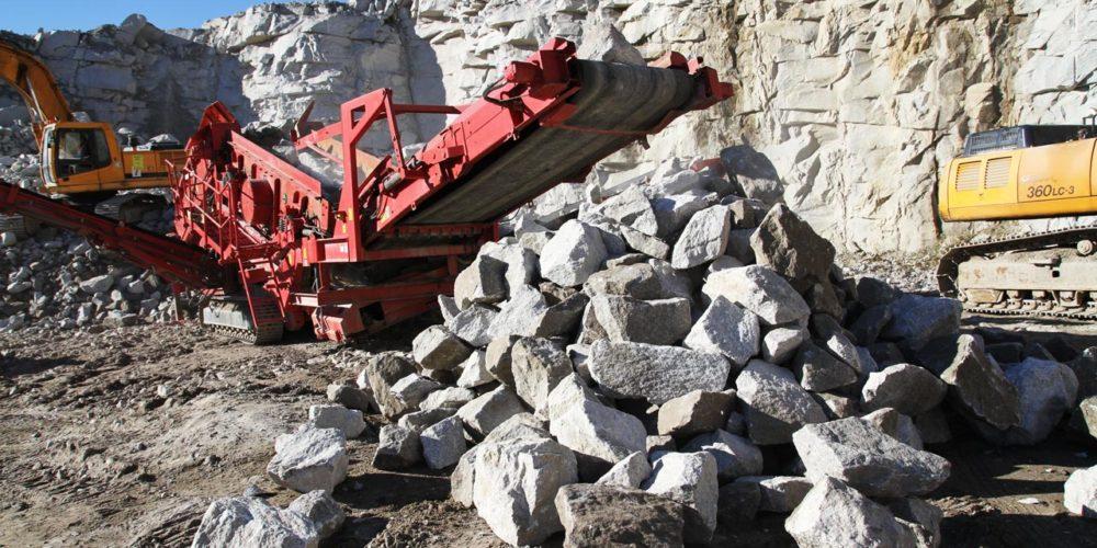 Produkcja kruszywa i kamienia hydrotechnicznego - kopalnia Eurovia