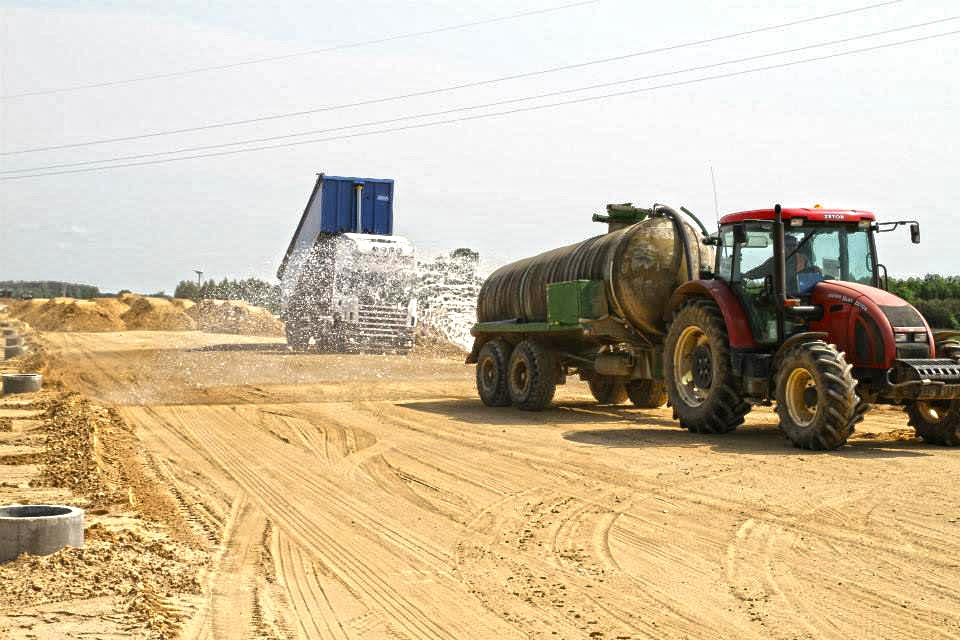 Kruszywa drogowe przy budowie drogi S8
