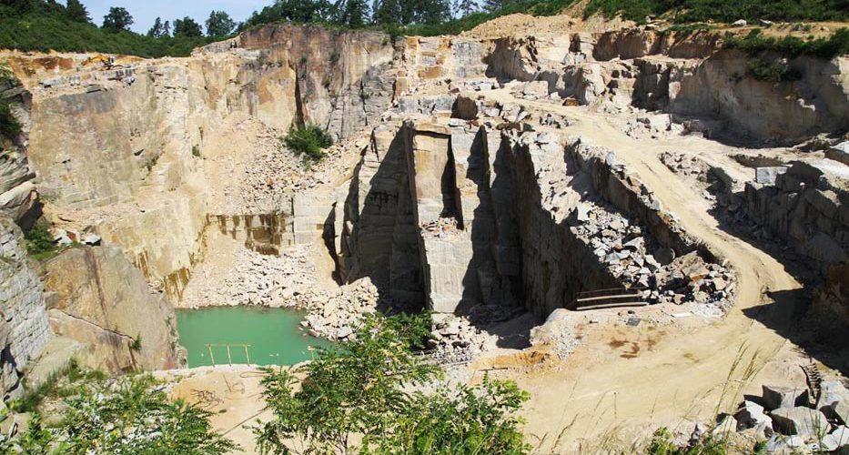 Produkcja kruszywa hydrotechnicznego kopalnia