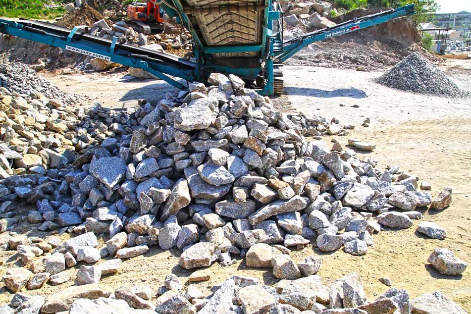 Produkcja kamienia hydrotechnicznego